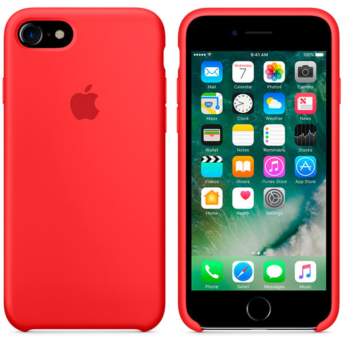 Чехол для Apple iPhone 7 Silicone Case Red