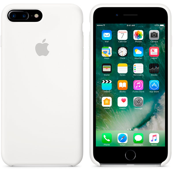 Чехол для Apple iPhone 7 Plus Silicone Case White